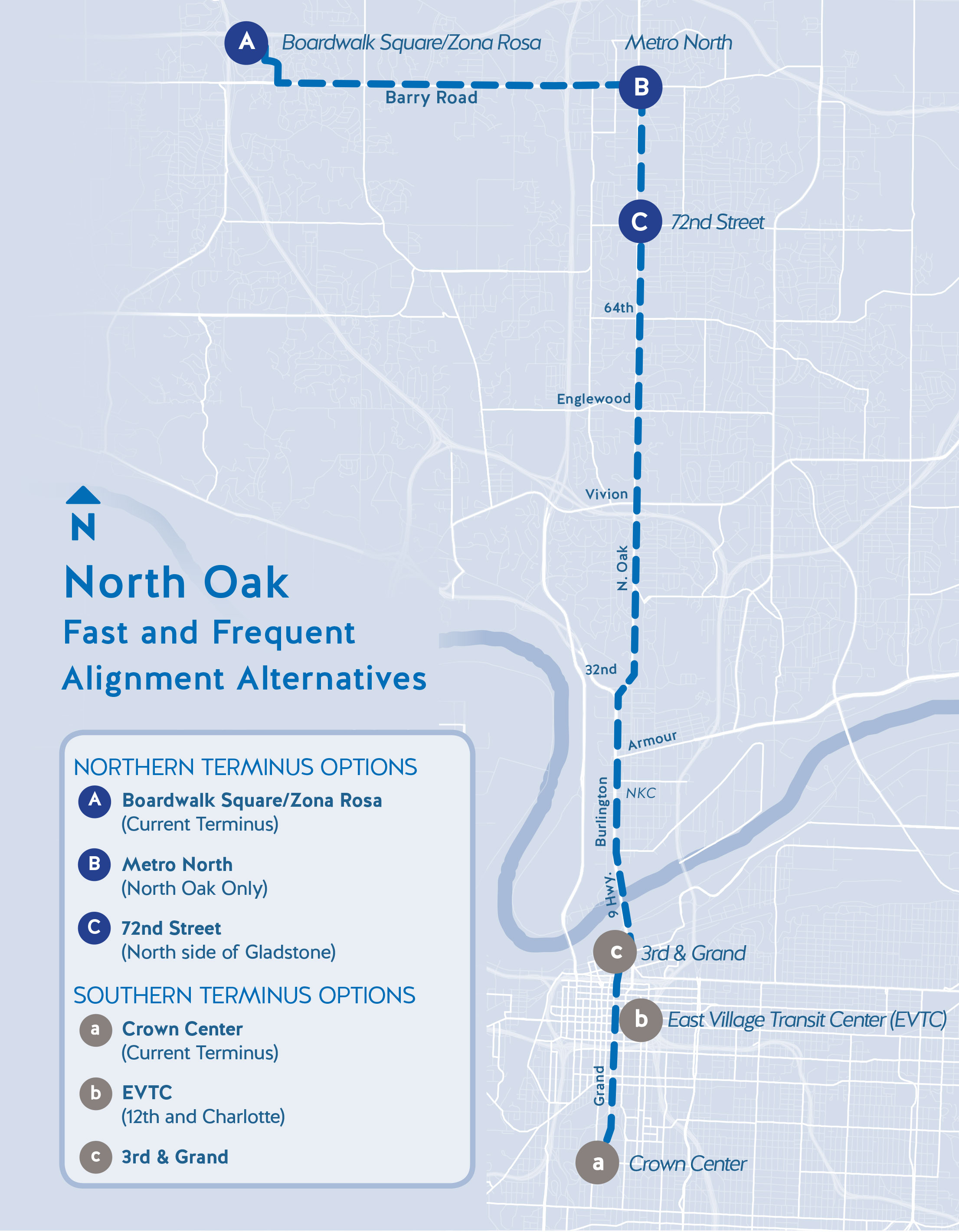 North Oak study map